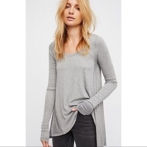 Free People January Tee Gray Size Small
